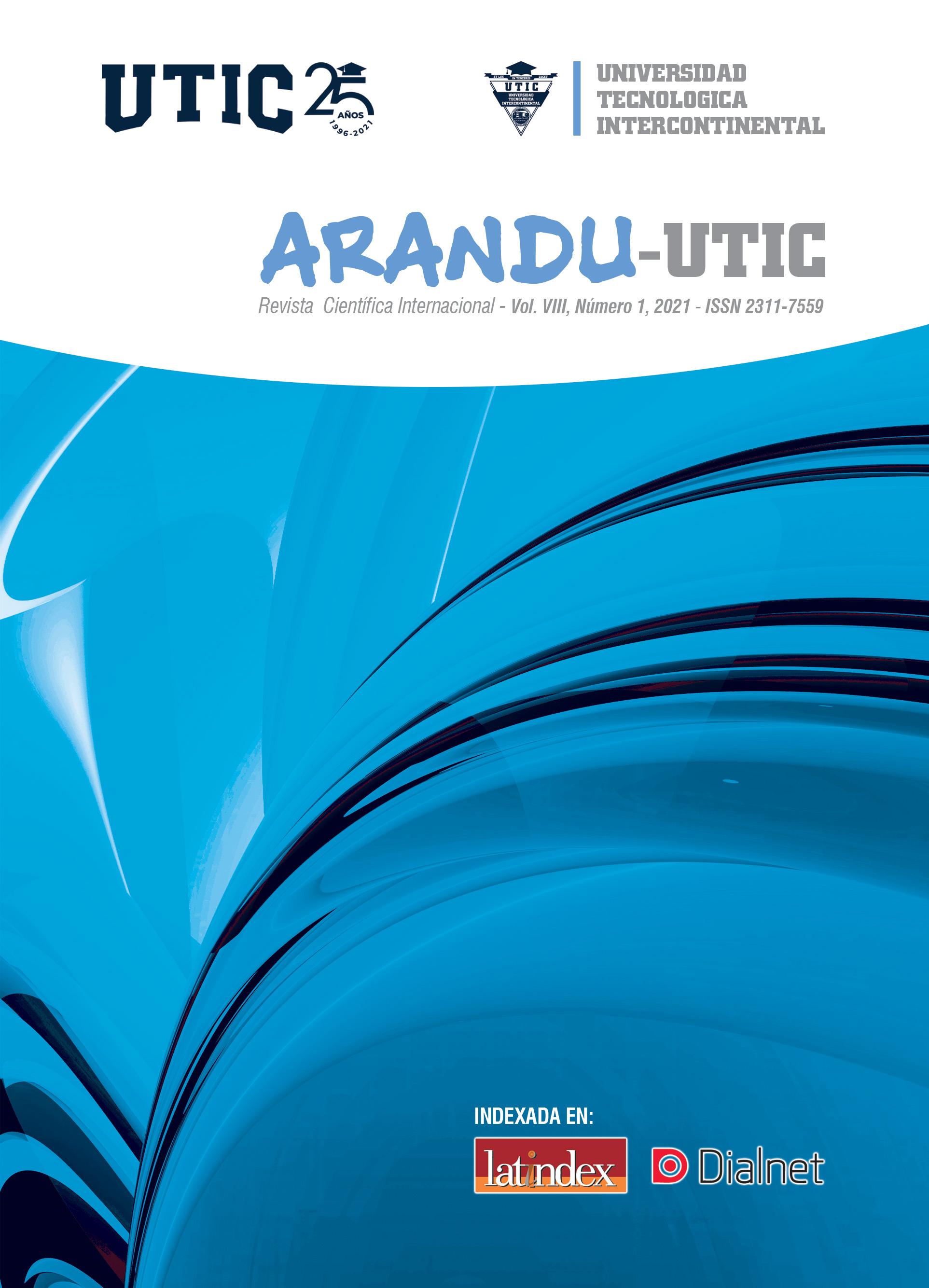 Ver Vol. 8 Núm. 1 (2021): Arandu UTIC