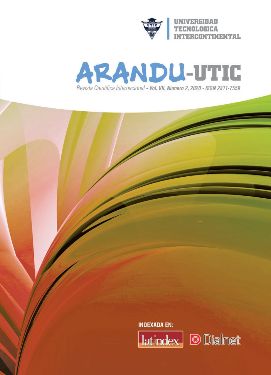 Ver Vol. 7 Núm. 2 (2020): Arandu UTIC